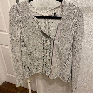 Knitted & Knotted Boho Zip Up Sweater